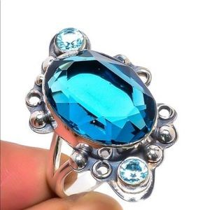 Jewelry - London Blue Topaz 925 Sterling Silver Ring
